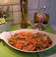 Tajine van kabeljauw met groenten
