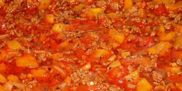 Tomatensaus met gehakt