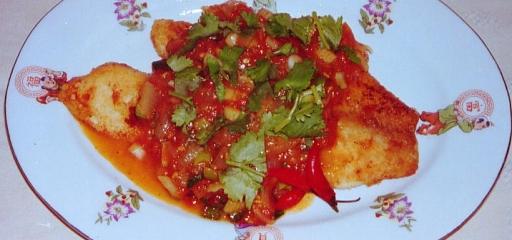 Visschotel met pangafilet en groenten